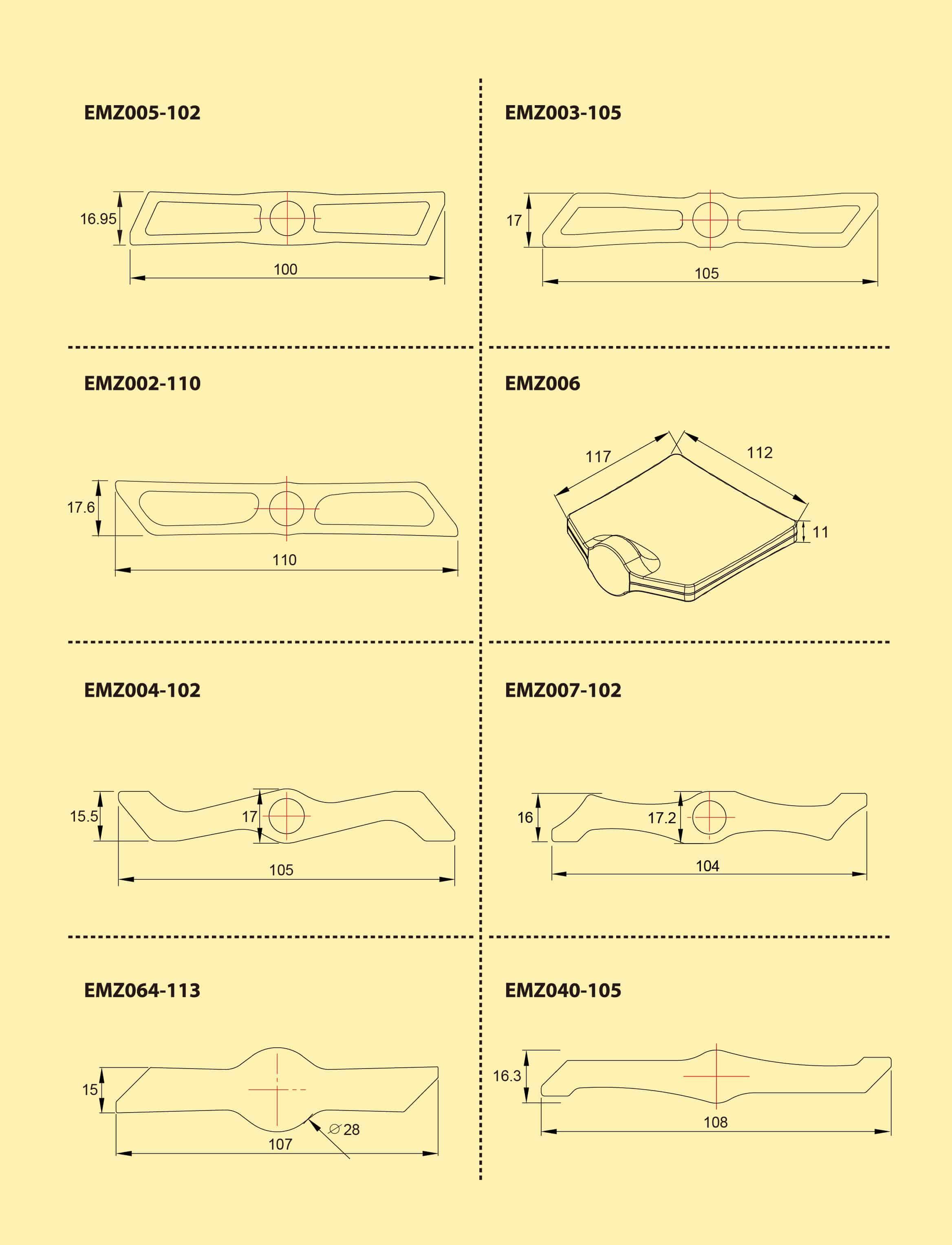 BMX Extrusion Drawing