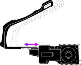 toe-clip adjustable