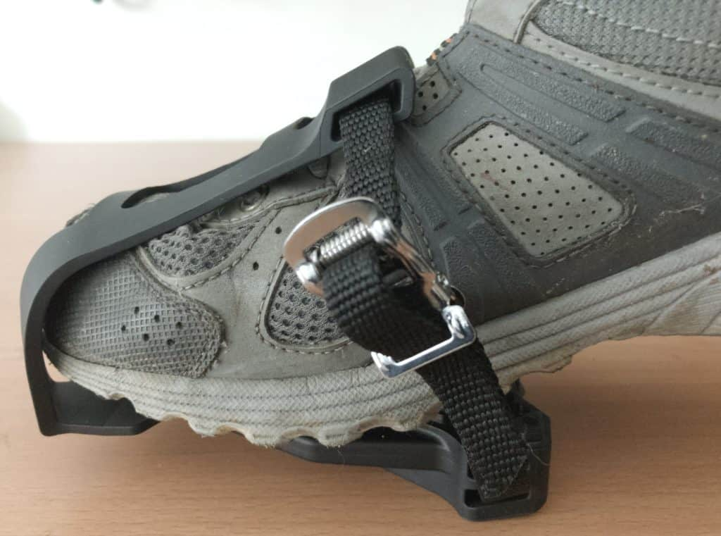 Shoe Fully Inserted to Toe Cage