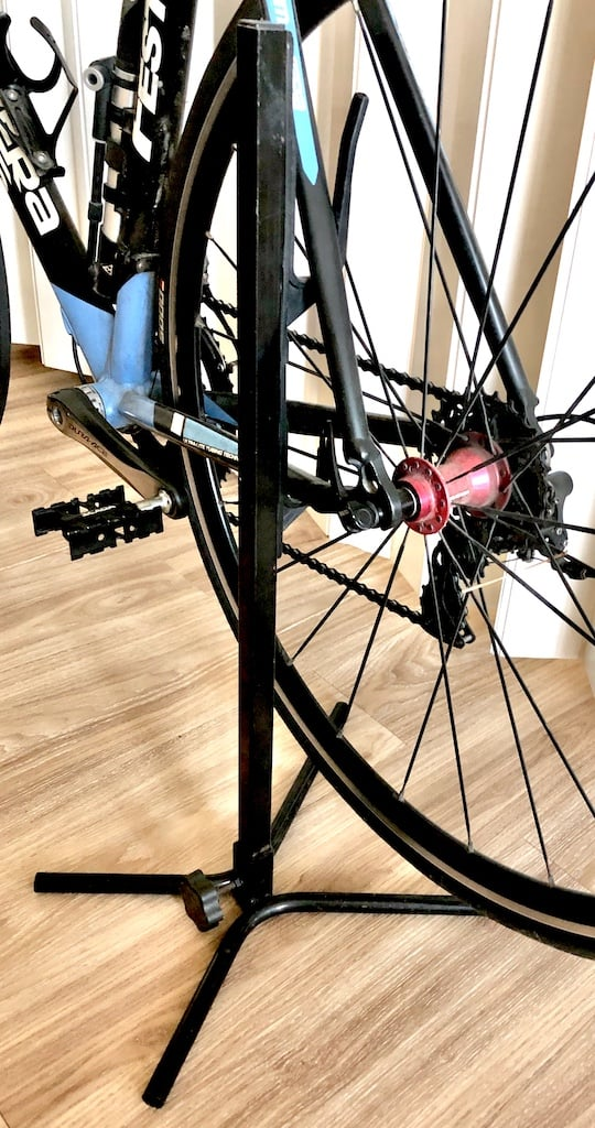 bike on bike floor stand