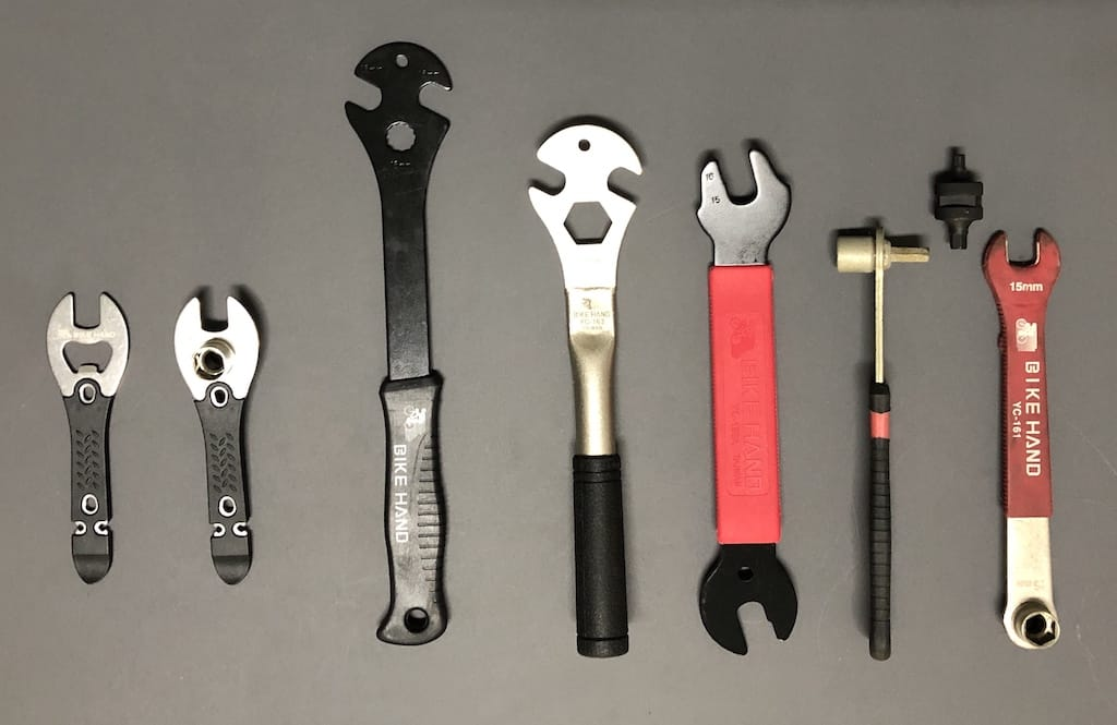 bike pedal removal tool set