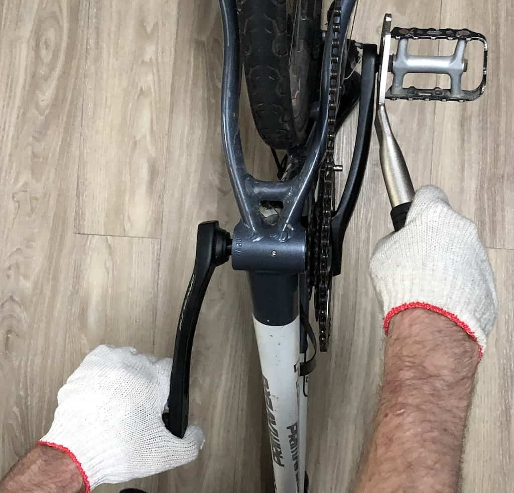 technique for bike pedal removal