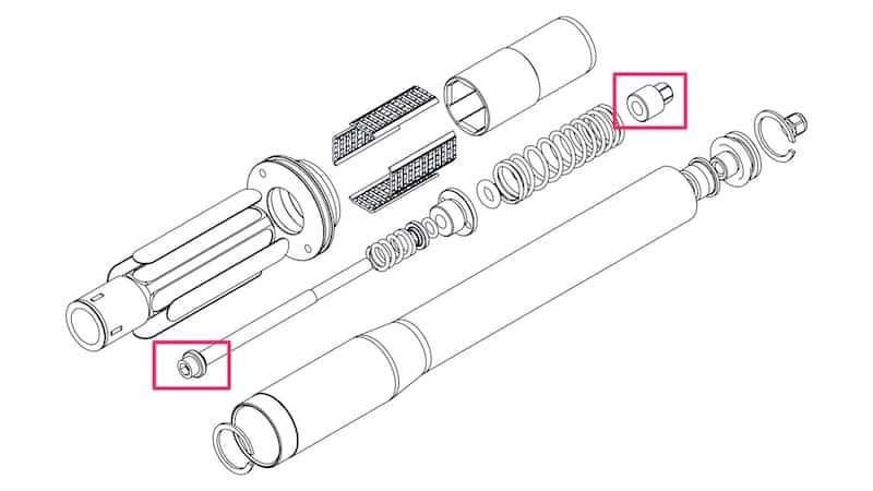 Gravel Bike Suspension Fork Pre Load Diagram