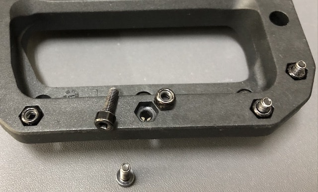 Pedal pins and nuts