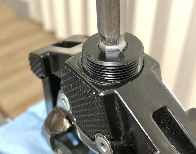Closeup oc Removing Pedal Dust Cap
